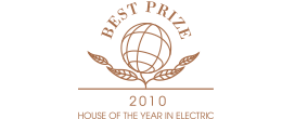 HOUSE OF THE YEAR IN ELECTRIC 2010 BEST PRIZE ロゴ